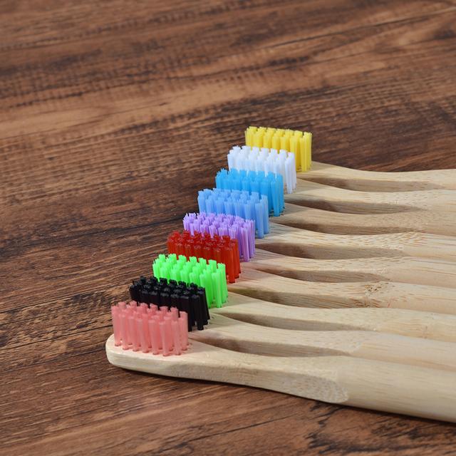 Bambusová zubná kefka pre deti 9farieb Eco Friendly Bamboo Toothbrush Holder Tube