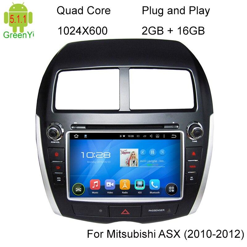Android Car GPS DVD Radio For Mitsubishi ASX Audio Multimedia System 2010 + Wifi