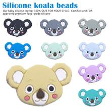 6pc Silicone Mini Koala Teethers Ecofriendly Baby Teething Accessories Food Grade Beads Teether