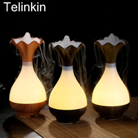 USB Air Humidifier Ultrasonic Aromatherapy Essential Oil Diffuser Aroma LED Night Light Nebulizer Air Purifier Wood