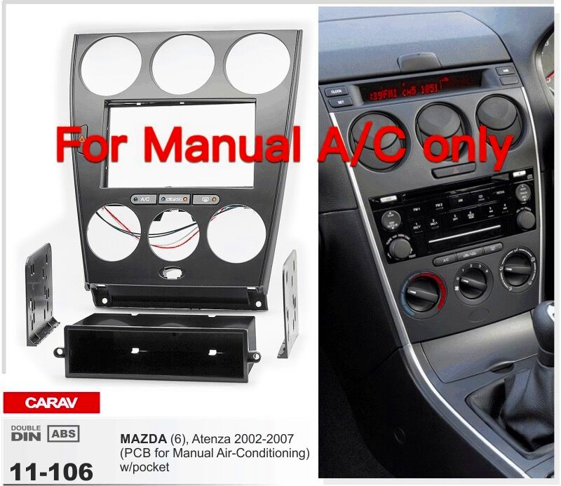 Car Radio Fascia Panel For Mazda 6 Atenza Manual Airconditioning Rhebay: Mazda 6 Radio Upgrade At Gmaili.net