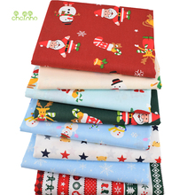 Chainho,8pcs/lot,Merry Christmas Series,Printed Twill Cotton Fabric,Patchwork Cloth ForDIY Sewing Quilting Baby&ChildrenMaterial