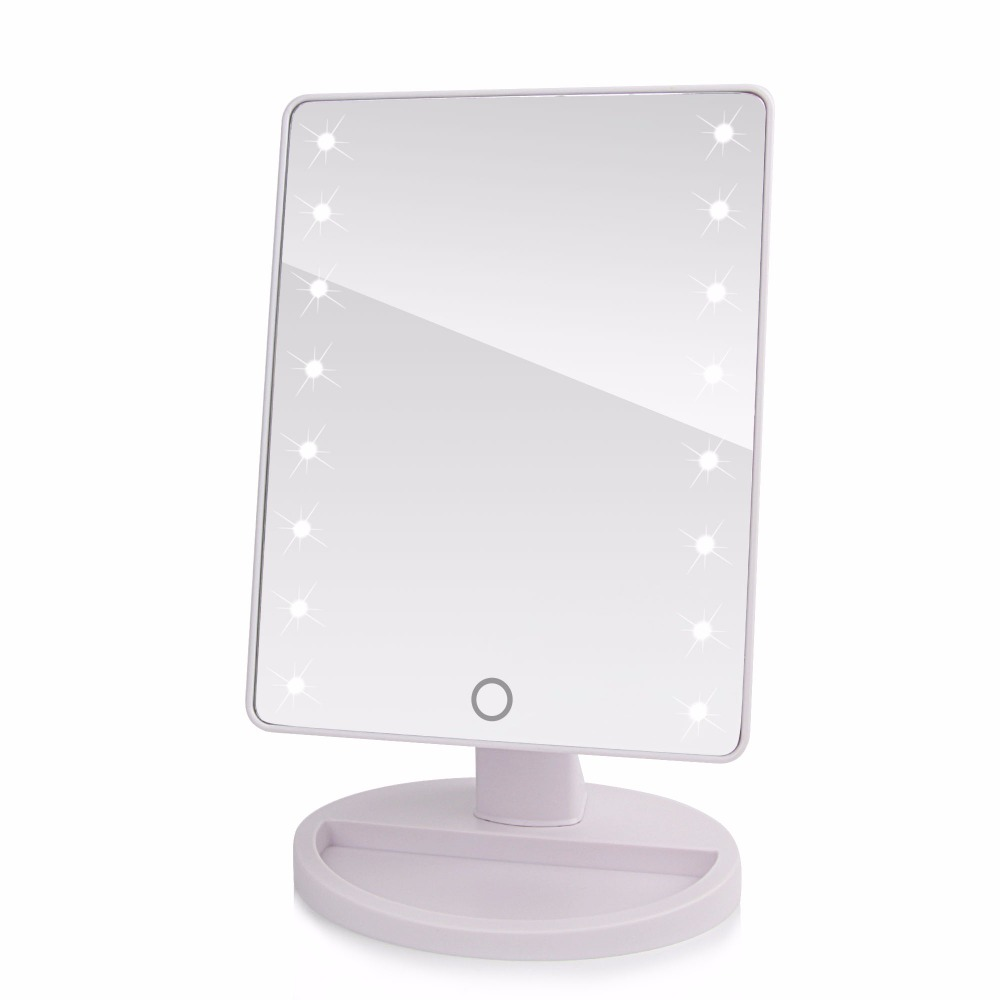 360 degree rotation touch screen make up mirror cosmetic for Miroir avec lumiere