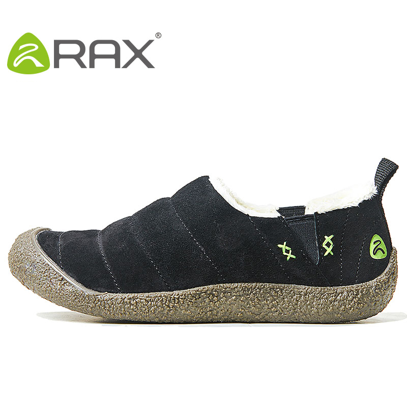 RAX Waterproof Snow Boots Men Hiking shoes Warm Winter Outdoor Climbing Trekking Boots Walking Shoes for Women sneakers 74-5N441 yin qi shi man winter outdoor shoes hiking camping trip high top hiking boots cow leather durable female plush warm outdoor boot