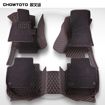 CHOWTOTO Double Layer!Custom Floor Mats For Benz A-Class B180 C200 E260 CL CLA G GLK300 GLE ML S350/400 Class Waterproof Carpets