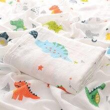 Summer Thin Baby Blanket 100% Cotton Gauze 0-2 Years Newborn Baby Swaddle Blanket Muslin Swaddle Wrap Soft Bath Towel 110*140cm стоимость