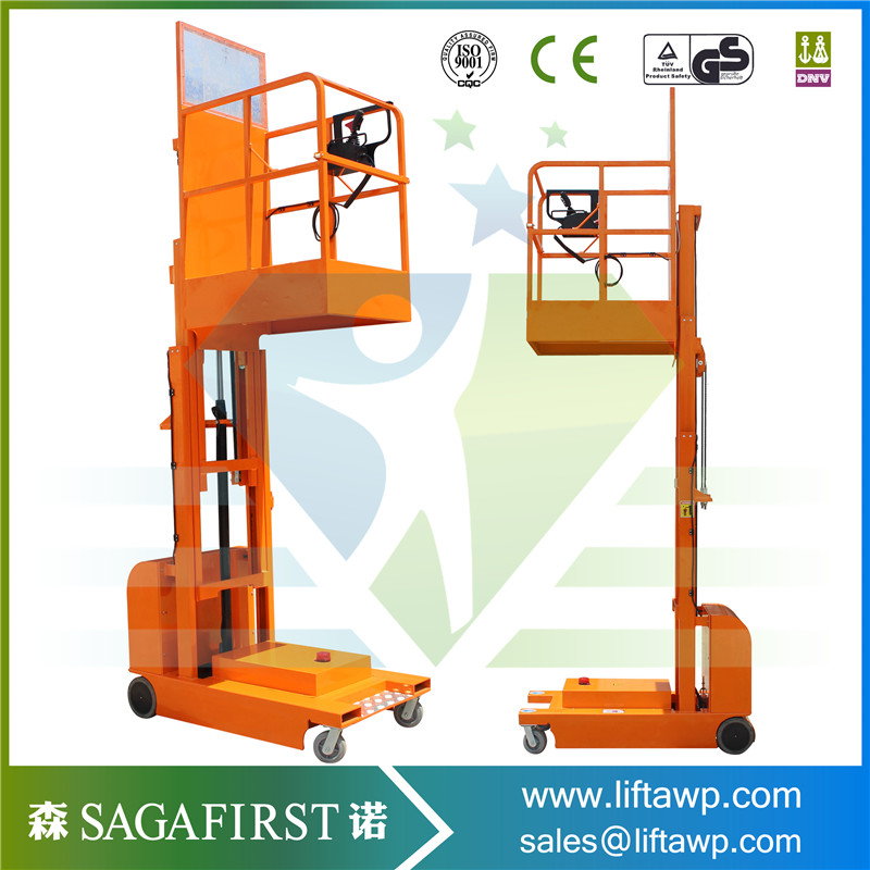 Mobile Picking Up Stacker Electric Aerial Order Picker For Materials Lifting