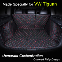 Car Trunk Mats for Volkswagen Tiguan VW Customized 3D Trunk Carpets All Covered Waterproof Black Beige Pink Brown Purple