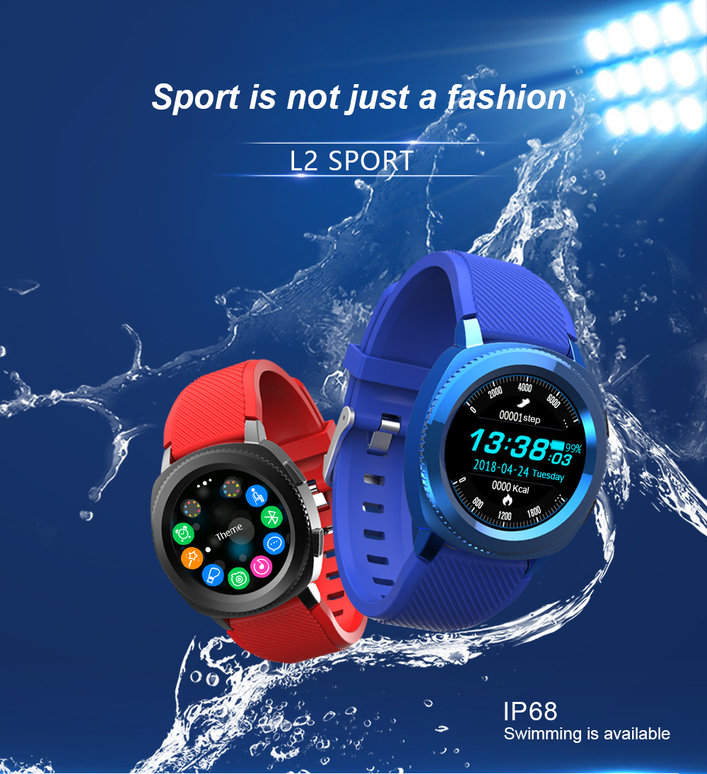 Generic Smart Watch Waterproof IP68 Heart Rate Monitor