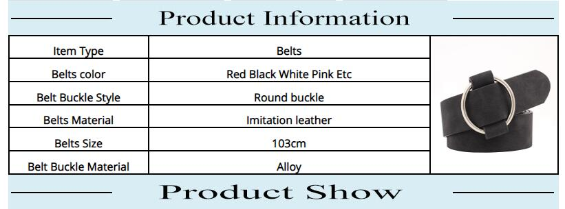 HTB1bvFdRhYaK1RjSZFnq6y80pXab - Women leather belt Newest Round buckle belts female leisure jeans wild without pin metal buckle Women strap belt