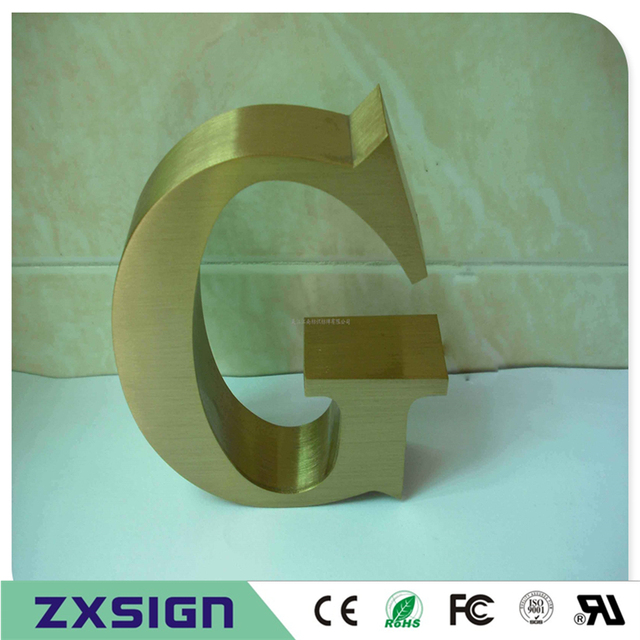 Metal Outdoor Letters And Numbers Factory Outlet Outdoor Plating Titanuim Letters  Golden Color
