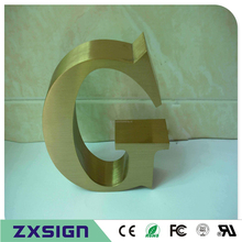Factory Outlet Outdoor plating titanuim letters , golden color stainless steel  letters, metal number, gold stainless steel sign(China)