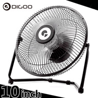 Digoo DF 101 10 inch Large Full Black Metal Electrical Rotatable USB Rechargeable 18650 Battery Cool Desk Fan