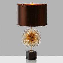 led e27 Postmodern Fabric Marble Iron Dandelion LED Lamp.LED Light.Table Light.Table Lamp.Desk Lamp.LED Desk Lamp For Bedroom