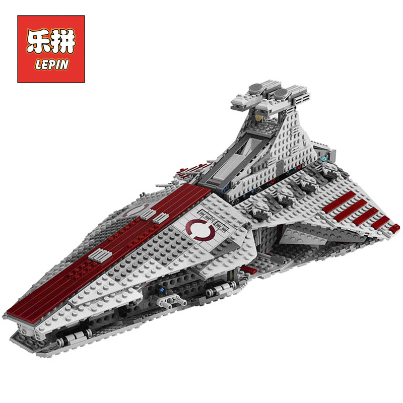Lepin 05042 Star Series Wars the Republic Fighting Cruiser Set Model & Building Blocks Brick DIY Educational Children Toys 8039 lepin 6125 stucke star classic modell wars die ucs st04 republic cruiser educational building blocks bricks spielzeug mode