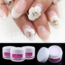 Monja 3 Color Nail Art Acrylic Powder Crystal Polymer Tips Builder Fal
