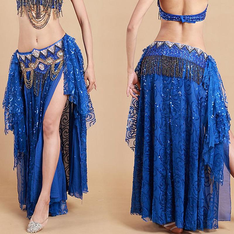 cd546a56c trajes de gasa vientre 6 colores Lentejuelas bellydance egipcios del  Vestidos danza noche 2016 mujeres Vestidos ...
