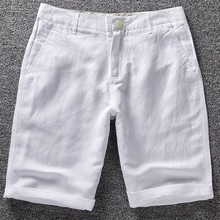 New Fashion Brand Men's Casual Shorts White Solid S