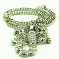 Punk Hip Hop Bling Bling Jewelry Stainless Steel Neckaces Scorpion Neckless Men Collier Femme Colar Comprido Turkish Jewelry