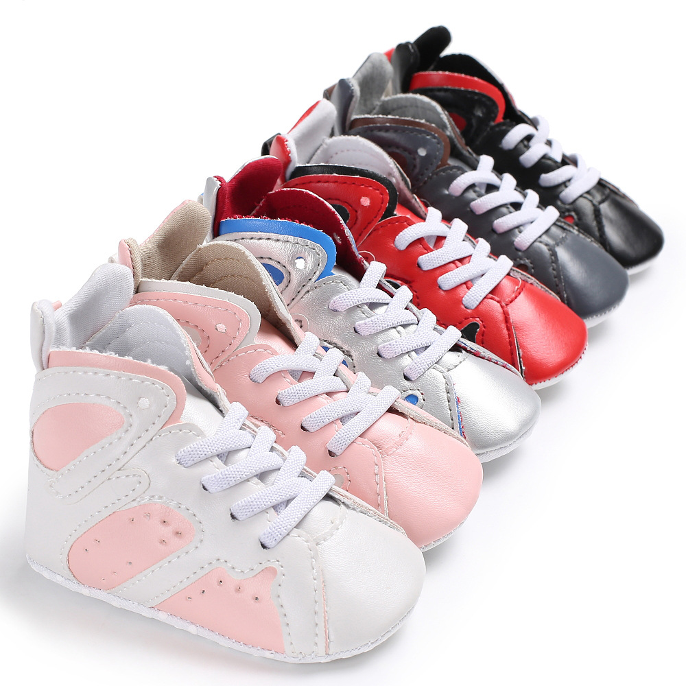 2018 New High-top Baby Boys Girls Moccasins Shoes Soft Sole Infant Baby Sneakers Newborn First Walker Boot Basketball Shoes