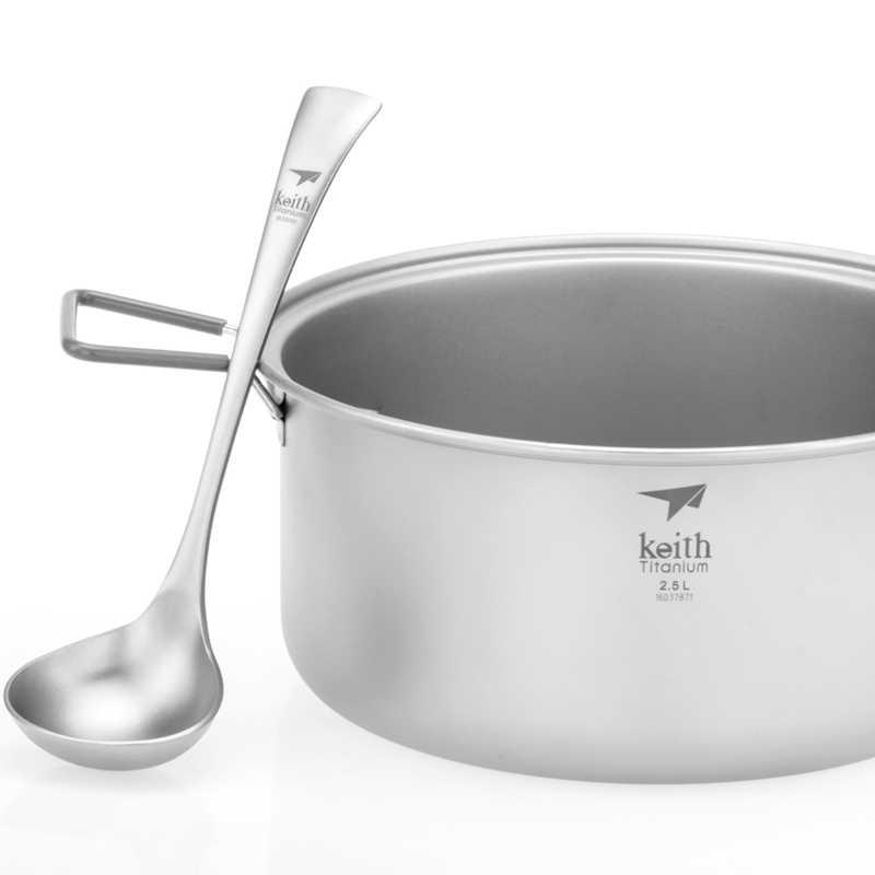 Keith novo engrossar titanium sopa colher de jantar acampamento ao ar livre caminhadas viagem colher utensílios de mesa 20.3cm apenas 63g