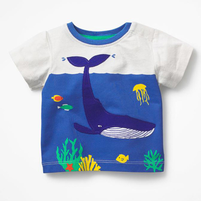 a4d0a1740 Baby Boys Short Sleeve T shirts Animals Print Children Clothing ...