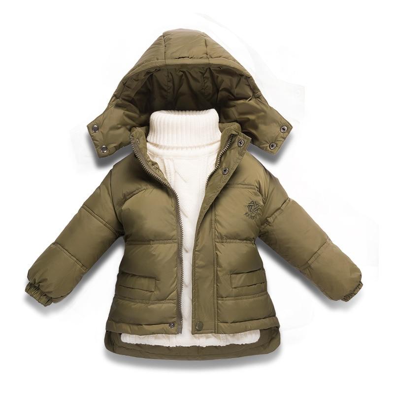5caba39646a7 Children Winter Down Jacket Boys Warm Outerwear Coats Girls Clothing ...