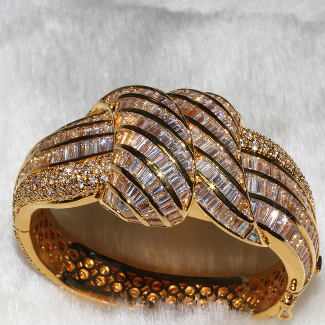 Wholesale Fashion BANGLES mix size 3PCS PER LOT quality bangle AAA zircon,has 316 Pebble Grain, T 235 grain drill ALW1329