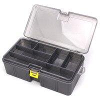 Двухслойный утолщенный Размер пластиковая приманка рыболовная коробка для рыбалки приманки аксессуары рыболовные снасти Коробка для хран...