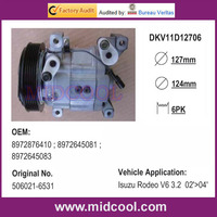 DKV11D AUTO AC COMPRESSOR FOR ISUZU 8972876410 8972645081 8972645083