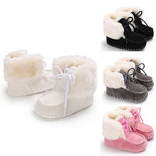Newest Warm Winter Soft Sole Leather Baby Infant Toddler Boys Girls Casual Shoes Prewalker Size 0-18M(China)