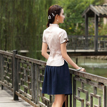 Chinese Jacquard Short Sleeve Top