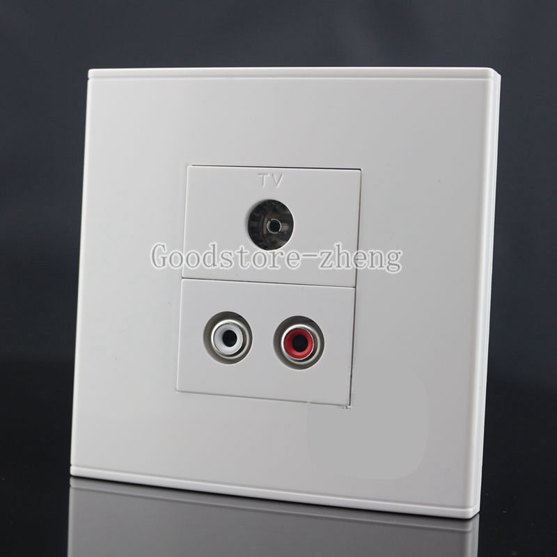 Wall Face Plate RCA AV Audio+ TV Jack Outlet Socket Assorted Panel Faceplate