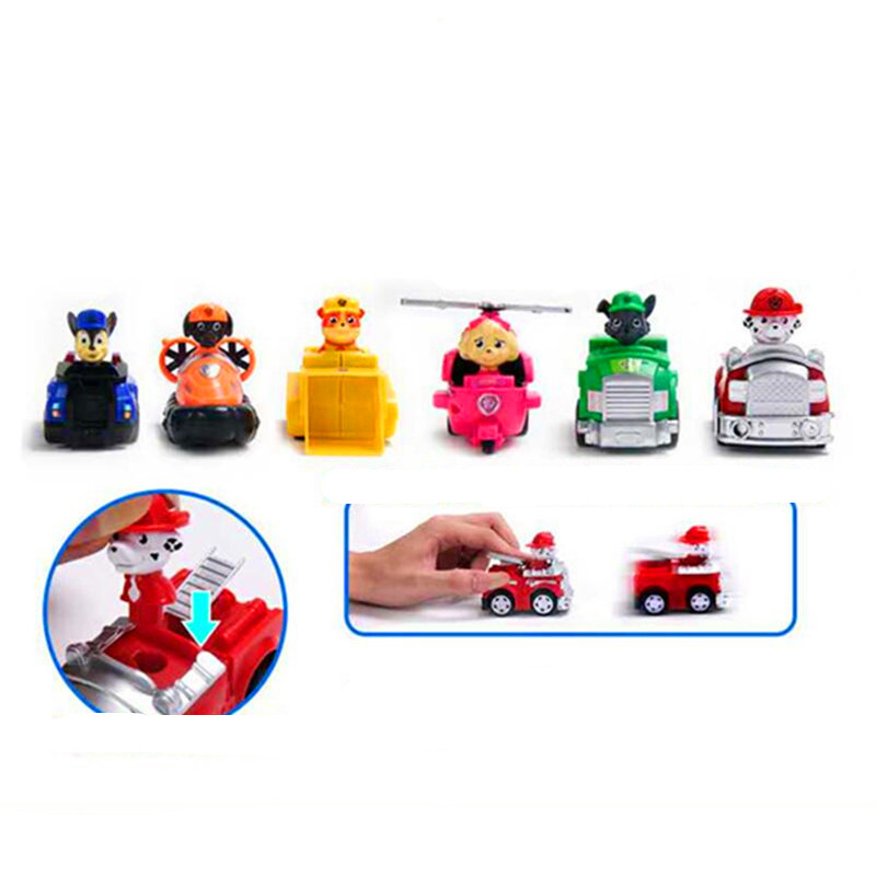 Paw Patrol toys set Dog Puppy Patrol Car Patrulla Canina Action Figures vinyl doll Toy Children Toys Paw Patrol birthday Gifts
