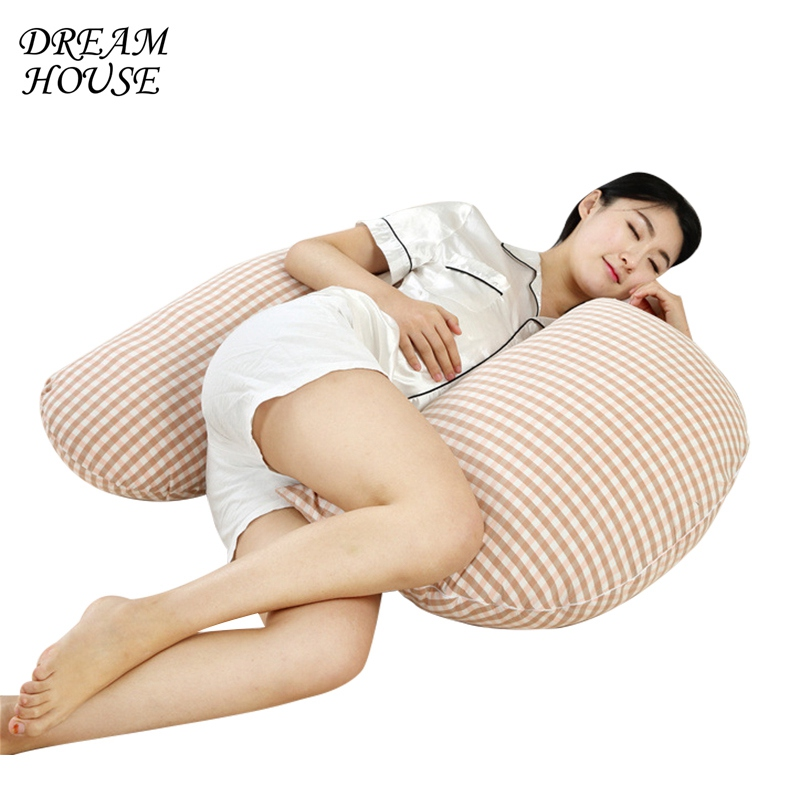 Pregnant Pillow Belly Contoured Body Pregnancy Pillow Multi-functional Support Side Sleeper Pillow Protect Waist Sleep Cushion pregnant women u type pillow multi functional sleep with pillow to protect the waist side sleep bed belly pillow