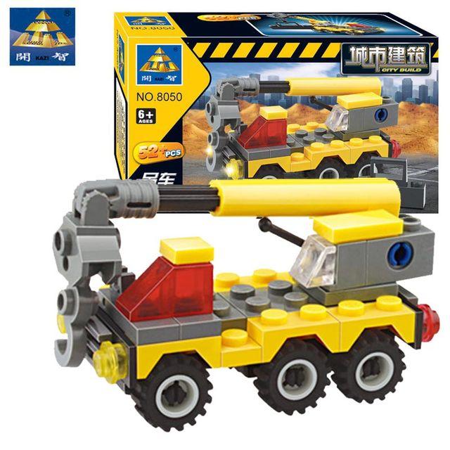 Kazi 52Pcs City Construction Truck Crane Building blocks Assembled Model Toys For Child's