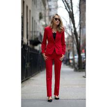 NEW Burgundy Womens Business Suits Ladies Elegant Pant Female Trouser Suit
