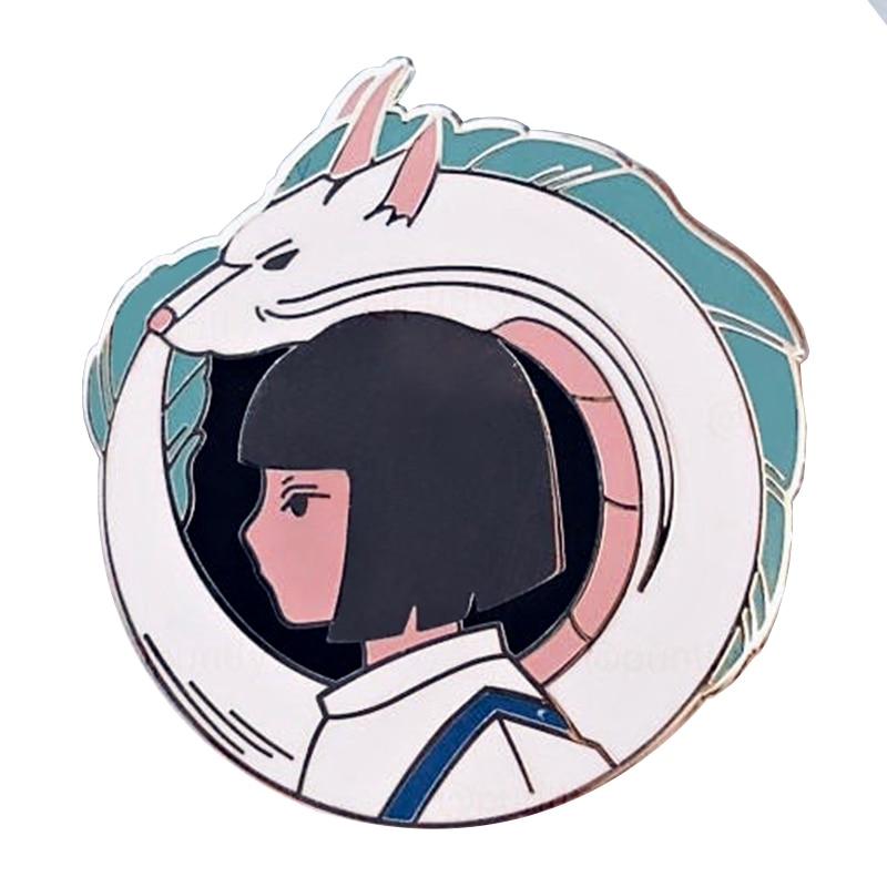 Haku Spirited Away Pin Enamel Badge Studio Ghibli Ebay