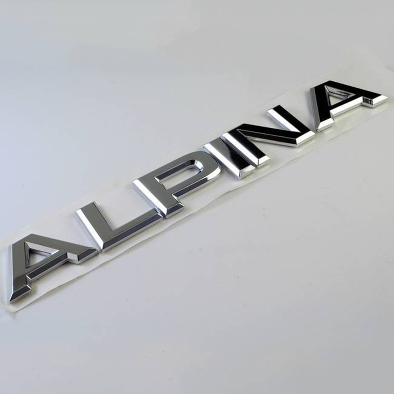 chrome alpina letter trunk rear body emblem decal sticker. Black Bedroom Furniture Sets. Home Design Ideas