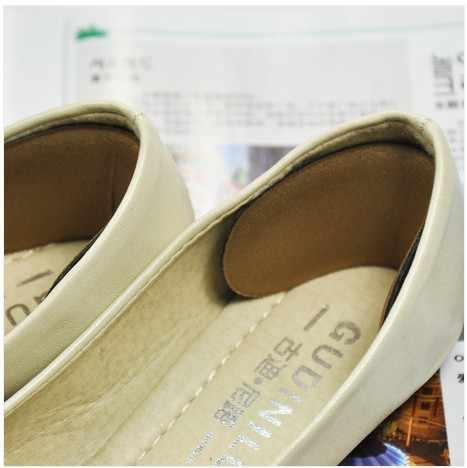 1 Pair ผ้าเหนียวรองเท้ากลับส้น Inserts Insoles Pads Cushion Liner Grips ฟองน้ำหลังจากครึ่งหลาหนา Pad