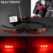 Motorcycle Saddlebag Red Lens Tail Brake Turn Light Box Luggage Housing Run Brake font b Lamp