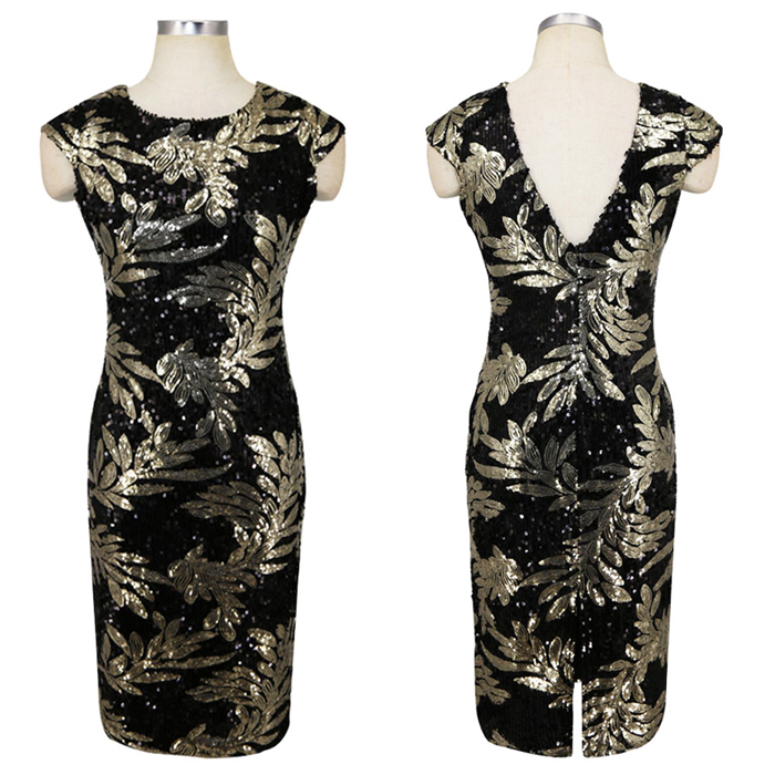 Great Gatsby Flapper Dress Sequins 15