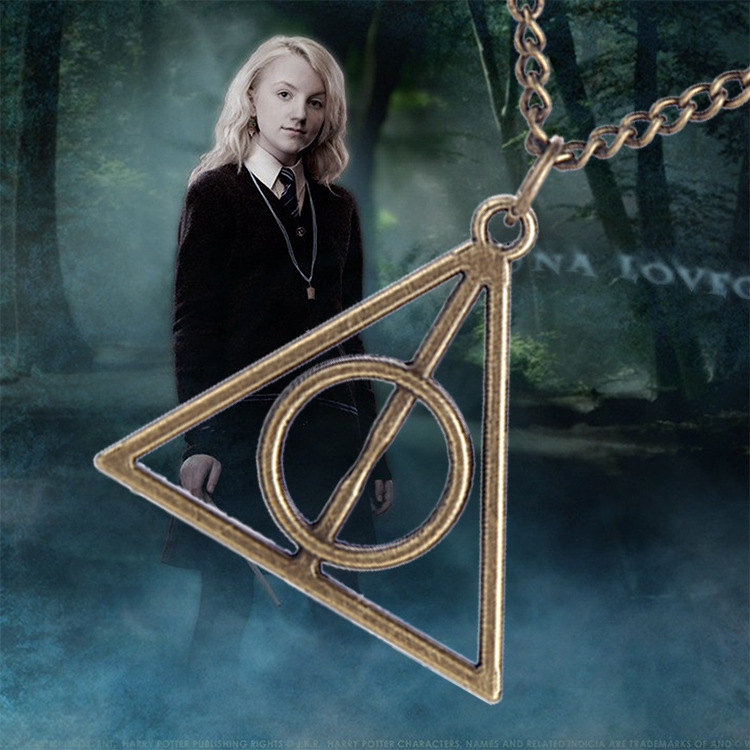 *NEW* HARRY POTTER DEATHLY HALLOWS METAL PENDANT NECKLACE FAST FREE SHIPPING