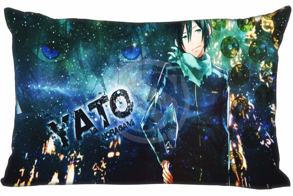 Hot Sale Noragami Pillowcase Custom Zippered Rectangle Pillow Cover Cases Size 40x60cm (Two sides) WT#905&as37
