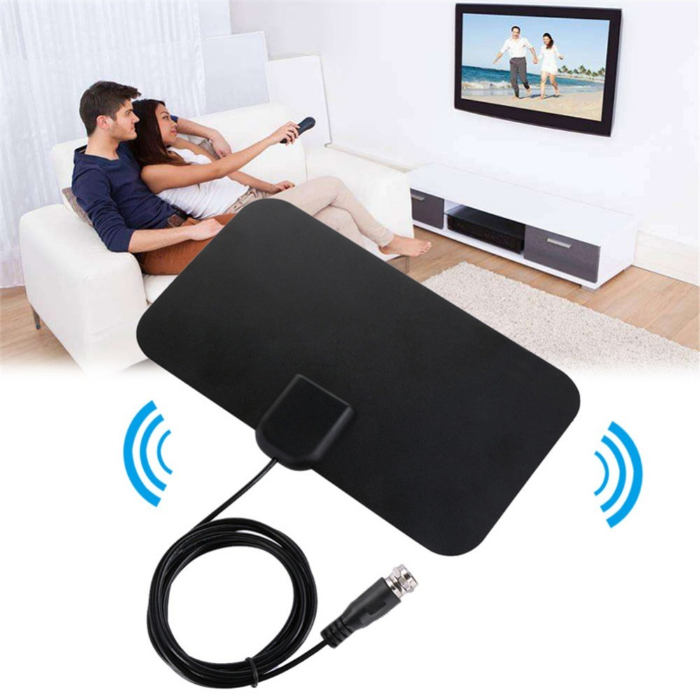 NEW Digital HDTV Antenna Indoor Antenna Receiver Amplified 50-Mile Receiving Range Support 4K HD VHF UHF HDTV001 Scan Channels