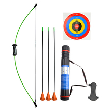 1Set Archery 15Ibs Recurve Bow Children And Arrow Set Left Right Hand For Shooting Practicing Accessories