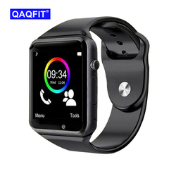 QAQFIT Bluetooth Smart Watch A1 For Apple iPhone IOS Android Phone Wrist Wear Support Sync smart clock Sim Card PK DZ09 GV18