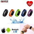 Chycet ID107 Bluetooth Heart Rate Monitor Smartband Smart Sport Watch Wristband Heart Rate Bracelet with Tracker Retail PK TW64