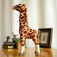 Коллекция Жираф Дети Плюшевые игрушечные лошадки коричневый моделирование прекрасные подарки Kawaii реалистичные мягкие игрушки/животные ми...