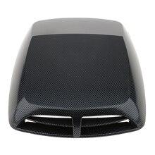 Универсальный Автомобильный декоративный внедорожный двигатель из углеродного волокна воздушный поток Впускной капот совок вентиляционная крышка капота наклейка самоклеющаяся